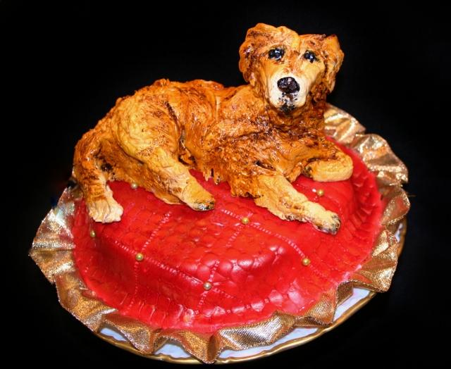Homemade Edible Dog Cake