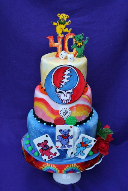 grateful dead cake ideas